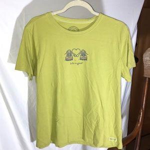NEW! Life Is Good Super Cute Hikers T-Shirt